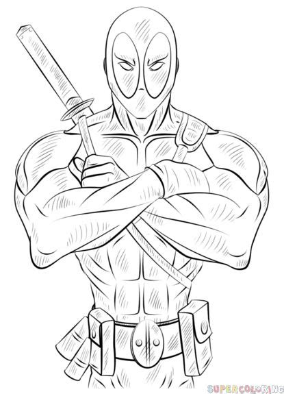 draw  deadpool step  step drawing tutorials