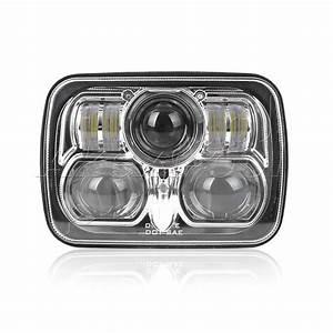 1pcs New Chrome 5 U0026quot  X 7 U0026quot  Led Headlight Replacement For Jeep