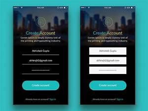 App Create Account Page By Abhishek Gupta