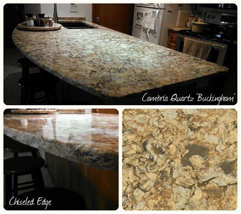 cambria quartz buckingham chiseled edge copper river