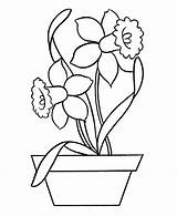 Coloring Easy Pages Flowers sketch template