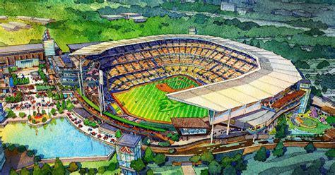 braves atlanta stadium ballpark suntrust park renderings designs mlb future atl sports county ga ballparks georgia early cobb architecture league