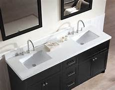 Double Sink Vanity Tops For Bathrooms by Ariel Hamlet 73 Double Sink Vanity Set With White Quartz Countertop In