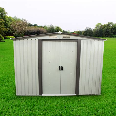 metal storage shed doors 8 x 8 outdoor garden shed storage utility tool backyard