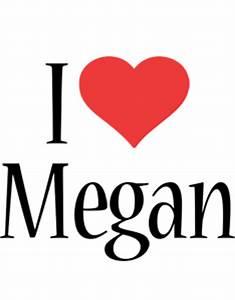 Megan Logo | Name Logo Generator - Kiddo, I Love, Colors Style