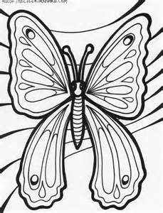 Rainforest Butterfly Coloring Pages