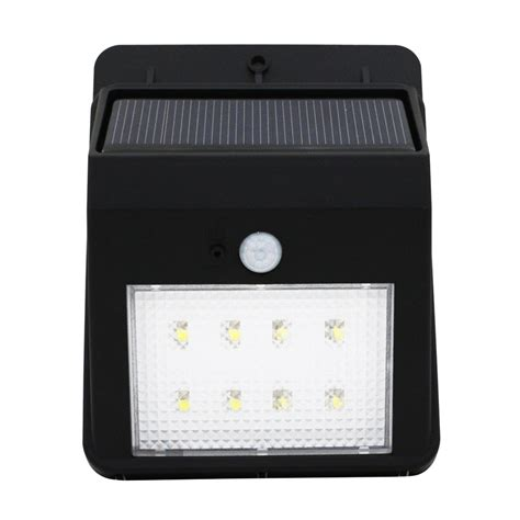 8 leds solar powered auto motion sensor light outdoor