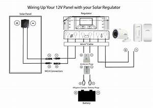 solar power camera and cctv With solar electrical wiring