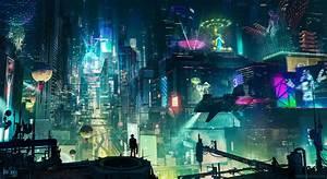 Cyberpunk, Cityscape, City, Skyscraper, Building