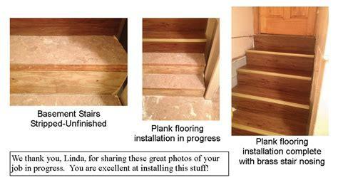 Self Adhesive Vinyl Floor Planks on Staircase Installation