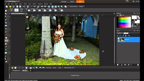 removing unwanted objects  paintshop pro  youtube