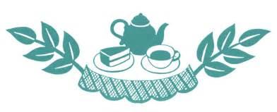 retro clip tea time silhouettes the graphics
