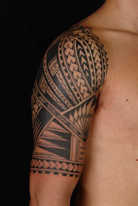 maori polynesian tattoo samoan polynesian  sleeve tattoo