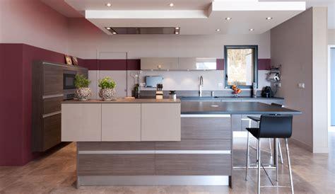 modele de cuisine moderne avec ilot cuisine moderne avec un îlot central modèle sérénade