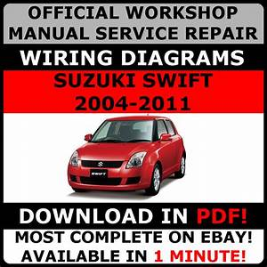 Official Workshop Service Repair Manual Suzuki Swift Rs