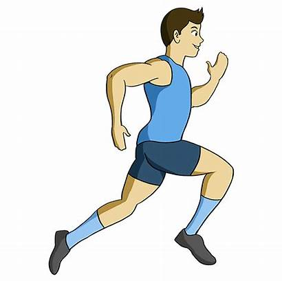 Running Person Draw Drawing Step Easy Cartoon
