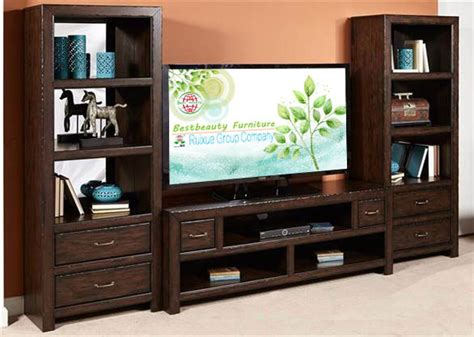 media console with bookcases md011 solidwood bookcase function tv stand media