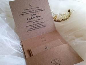rustic kraft pocketfold wedding invitations stationery With rustic pocketfold wedding invitations uk