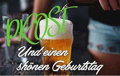 Birthday German Happy Animated Cheers Gifs Geburtstag