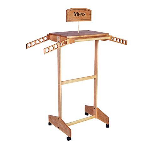 wood clothing rack standard wooden clothing rack trio display