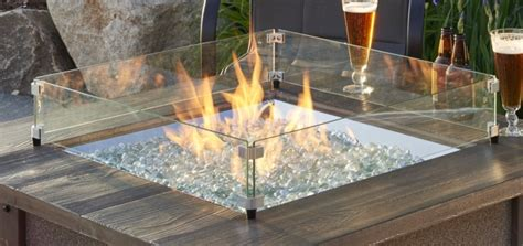 """It shelters the flame while providing a safety barrier for users along with polished edges. 24x24"""" Tempered Glass Wind Guard 