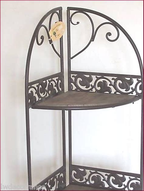etagere murale fer forge 233 tag 232 re d angle console boulang 232 re vieu bois fer forg 233