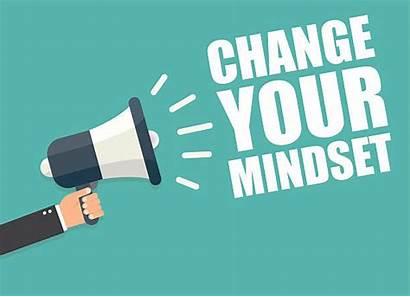 Mindset Change Attitude Positive Megaphone Vector Sales