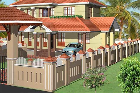 home fences and gates landscaping can also part compound wall design providing
