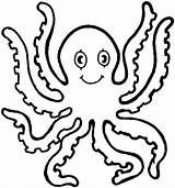 Octopus Coloring Pages Printable Cartoon Paper Drawing sketch template