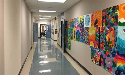 opinion school hallways   decorated  art