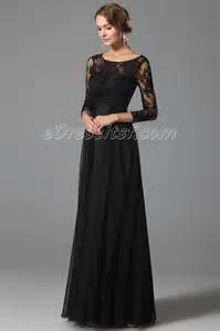 Black Empire Waist Dresses with Sleeves