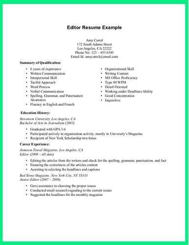 What Else To Add On A Resume by Managing Editor Resume Exle