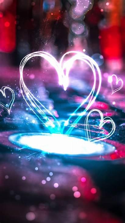 4k Heart Mobile Iphone Neon Wallpapers Hearts