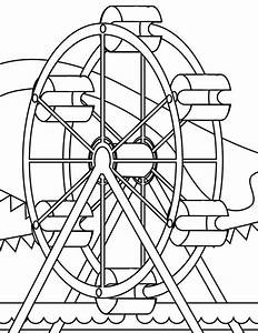 wheel coloring page - ferris wheel coloring pages az coloring pages