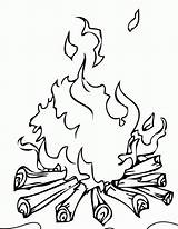 Campfire Coloring Popular sketch template