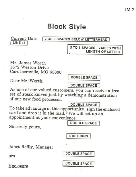 block style letter block style business letter format sle