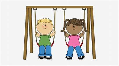 Swing Clipart Swinging Playground Cliparts Child Clip