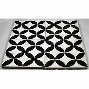 Carreaux De Ciment Noir Et Blanc : carreaux ciment ellipse noire fond blanc tradicim l ~ Dailycaller-alerts.com Idées de Décoration