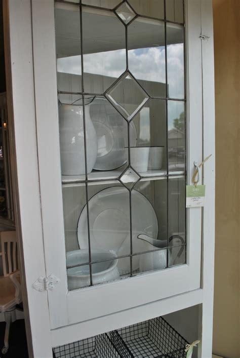 leaded glass cabinet doors white leaded glass cabinet sobo style window pane