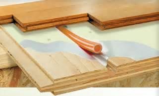 radiant heat under wood floors use hydronic radiant heat