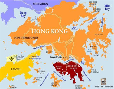 hong kong map trails  indochina hong kong