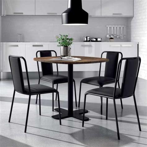 table ronde cuisine table ronde pour cuisine en stratifié avec pied central spinner 4 pieds tables chaises et