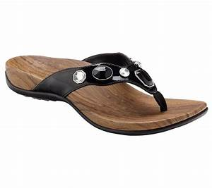 """As Is"" Vionic w/ Orthaheel Eve Orthotic Thong Sandals"
