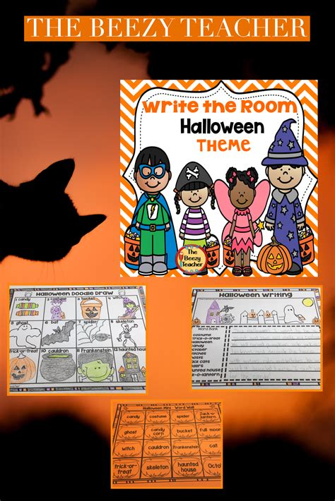 write  room halloween theme  images halloween