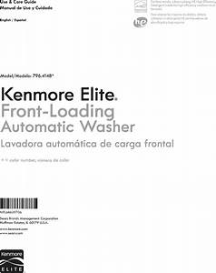 Kenmore Elite 79641482410 User Manual Washer Manuals And