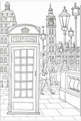 Coloring London Phone Adult Sheets Colouring Aliexpress Printable sketch template