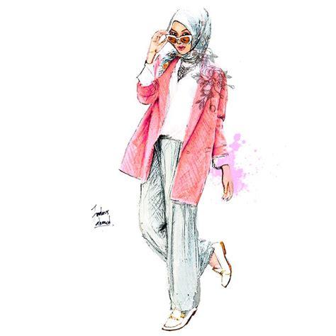 hijab art images  pinterest muslim women