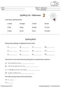 halloween printable worksheets primaryleap images