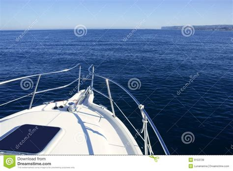 The Bow Of A Boat Where by Boat Bow Yatch Vacation On The Blue Royalty Free