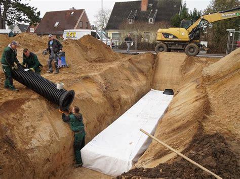 regenwasserversickerung selber bauen rigole selber bauen rigole selber bauen excellent weg